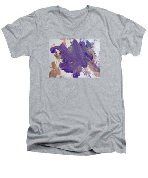 Purple By Emma Men's V-Neck T-Shirt by Fred Wilson