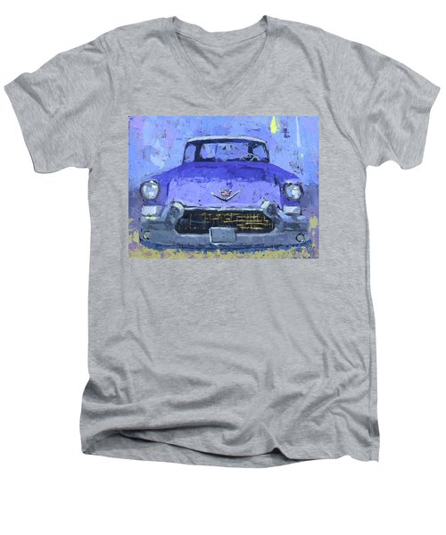 Purple Cadillac Men's V-Neck T-Shirt