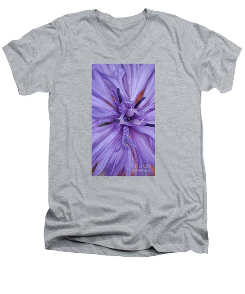 Purple Colorado Wildflower In Macro Men's V-Neck T-Shirt