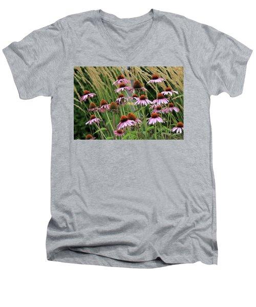 Purple Coneflowers Men's V-Neck T-Shirt