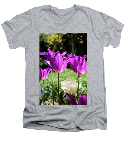 Purple Cups Men's V-Neck T-Shirt