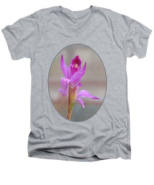 Purple Delight Men's V-Neck T-Shirt by Gill Billington