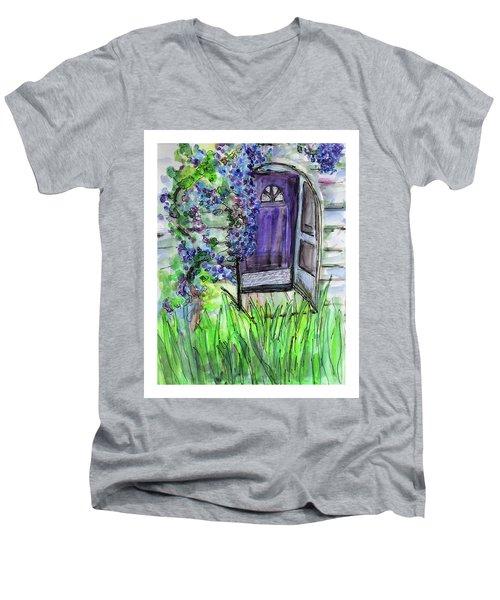 Purple Doorway Men's V-Neck T-Shirt