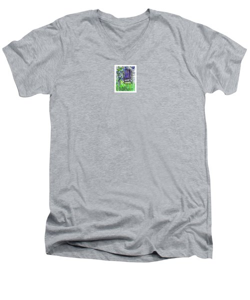 Purple Doorway Men's V-Neck T-Shirt