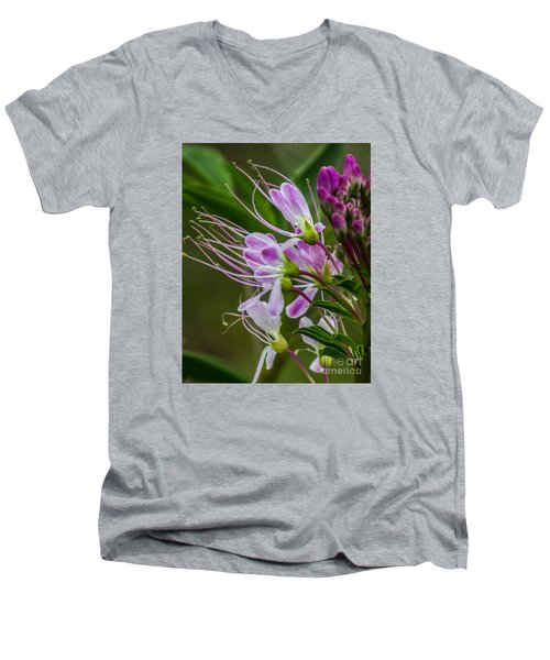 Purple Flower 6 Men's V-Neck T-Shirt