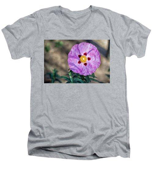 Purple Rockrose Men's V-Neck T-Shirt