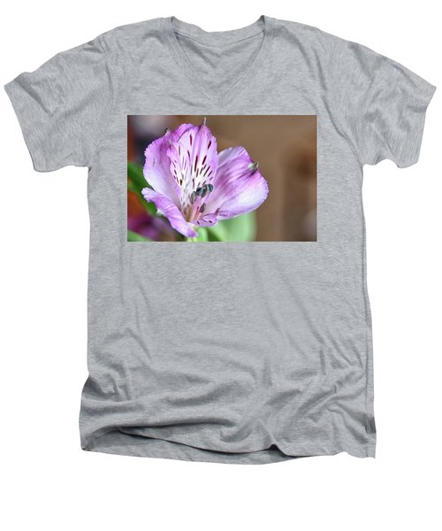 Purple Flower Men's V-Neck T-Shirt