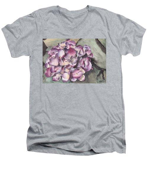 Purple Hydrangea Men's V-Neck T-Shirt