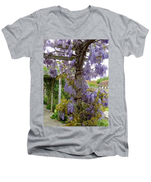 Purple In Priory Park Men's V-Neck T-Shirt