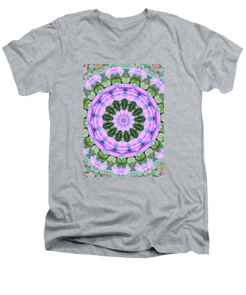 Purple In The Field Men's V-Neck T-Shirt