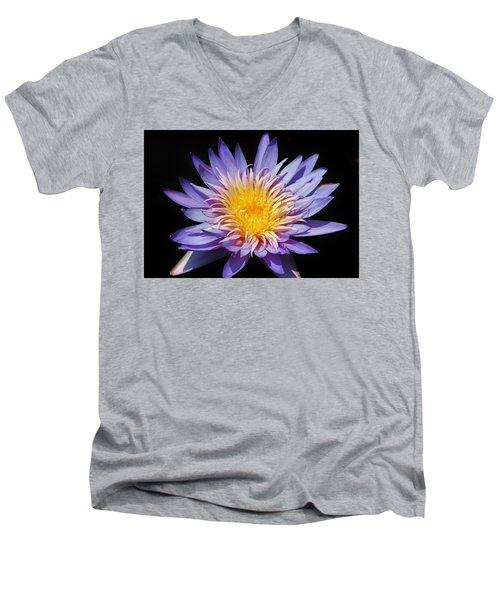 Purple Lotus Men's V-Neck T-Shirt