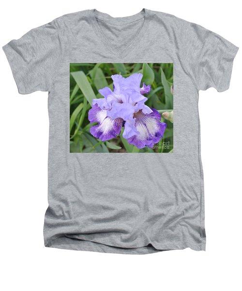 Purple Love Men's V-Neck T-Shirt by Marsha Heiken