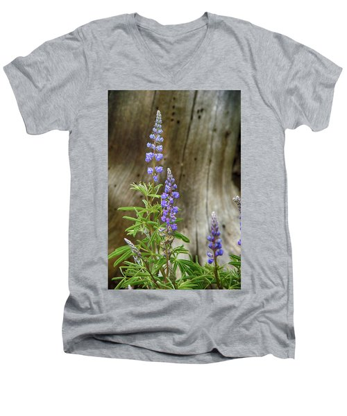 Purple Lupine Men's V-Neck T-Shirt