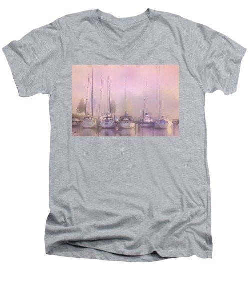 Purple Marina Morning Men's V-Neck T-Shirt