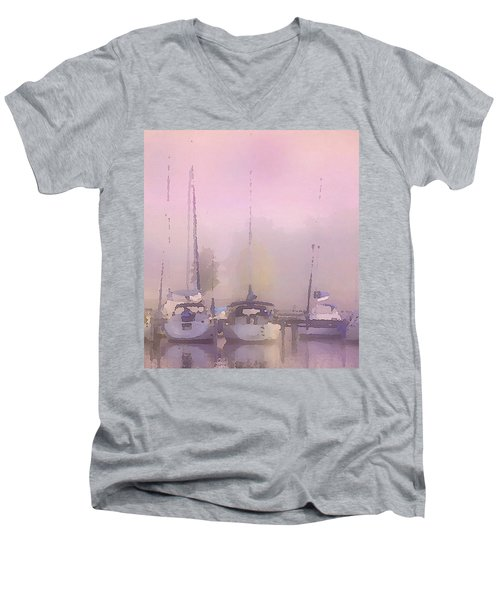 Purple Marina Morning Men's V-Neck T-Shirt