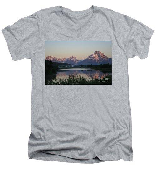Purple Mountain Majesty  Men's V-Neck T-Shirt