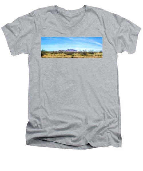 Purple Mountain Panoramic Men's V-Neck T-Shirt