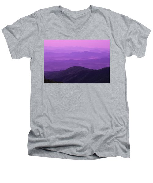 Purple Mountains Men's V-Neck T-Shirt