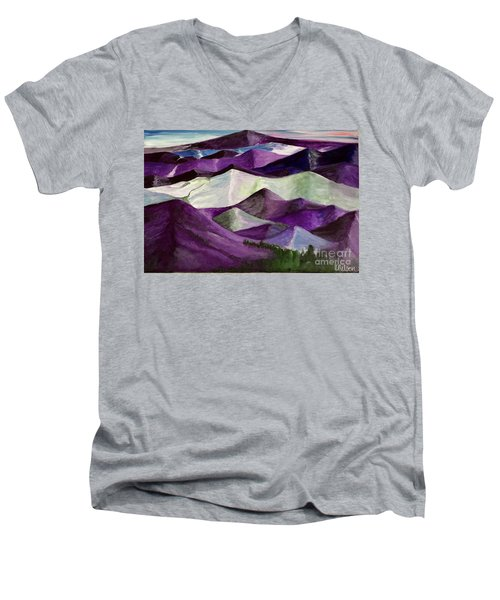 Purple Mountains Majesty Men's V-Neck T-Shirt by Kim Nelson