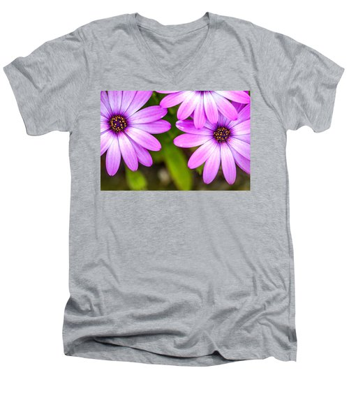 Purple Petals Men's V-Neck T-Shirt