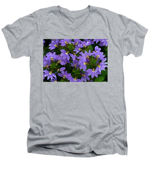 Men's V-Neck T-Shirt featuring the photograph Purple Perspective by Shari Jardina