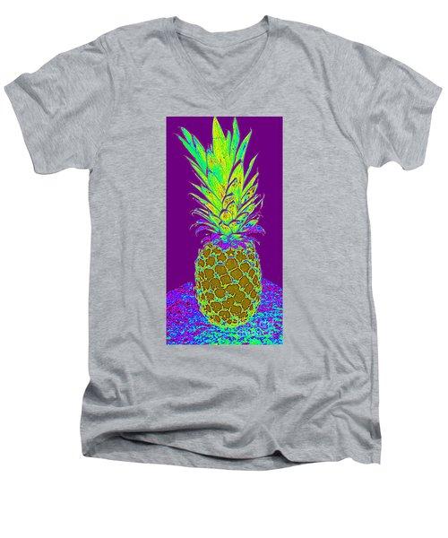 Purple Pineapple Men's V-Neck T-Shirt
