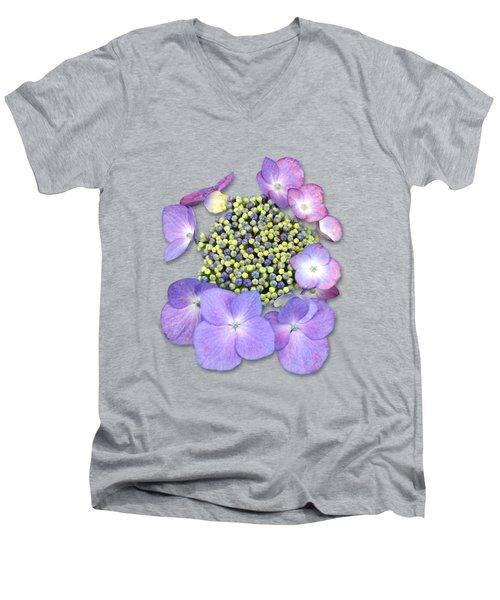 Purple Pods Sehemu Mbili Unyenyekevu Men's V-Neck T-Shirt by Bob Slitzan