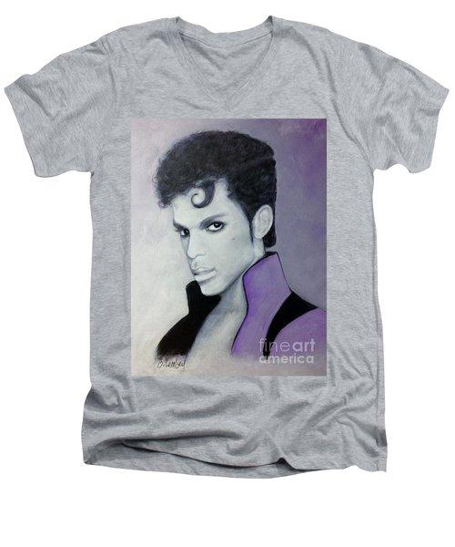 Purple Prince Men's V-Neck T-Shirt