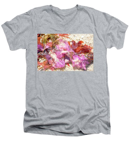 Purple Seaweed In Pacific Grove Men's V-Neck T-Shirt