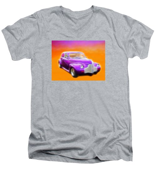 Purple Shadow Cruiser Men's V-Neck T-Shirt