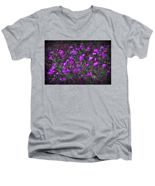 Purple Stars Men's V-Neck T-Shirt
