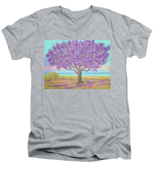 Purple Tree Men's V-Neck T-Shirt
