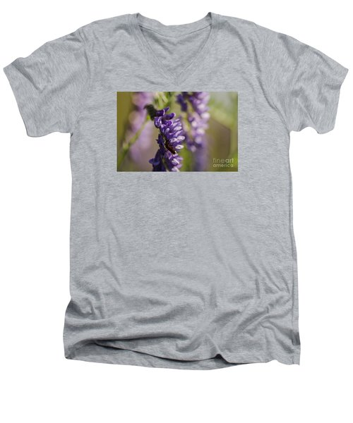 Men's V-Neck T-Shirt featuring the photograph Purple Wildflowers by JT Lewis