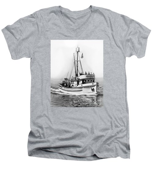 Purse Seiner Western Flyer On Her Sea Trials Washington 1937 Men's V-Neck T-Shirt