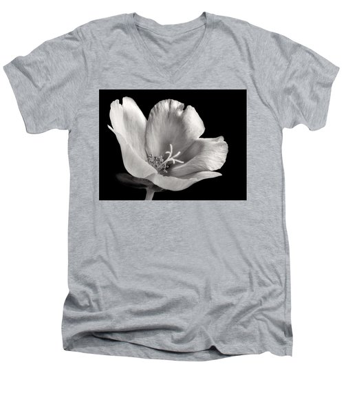 Men's V-Neck T-Shirt featuring the photograph Purslane In Monochrome by David and Carol Kelly