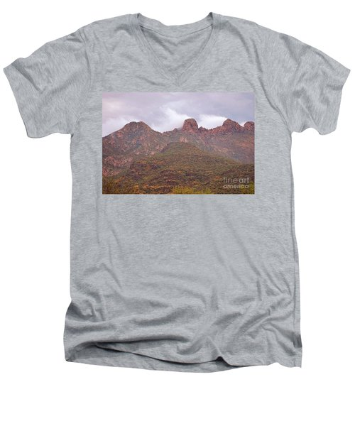 Pusch Ridge Tucson Arizona Men's V-Neck T-Shirt