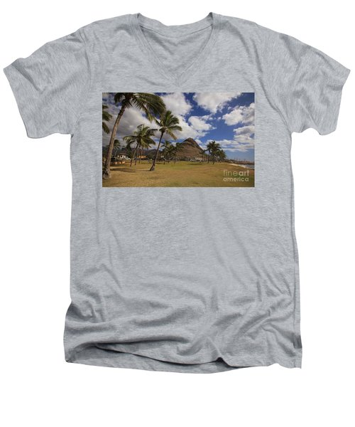 Puu O Hulu Kai Men's V-Neck T-Shirt by Craig Wood