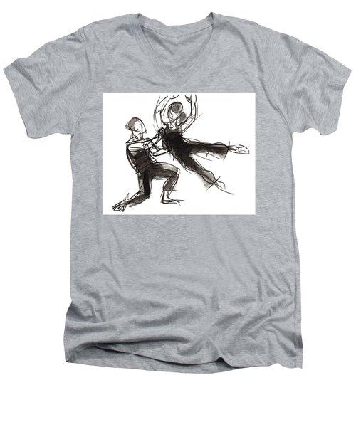 Puzzle Pieces Three Men's V-Neck T-Shirt