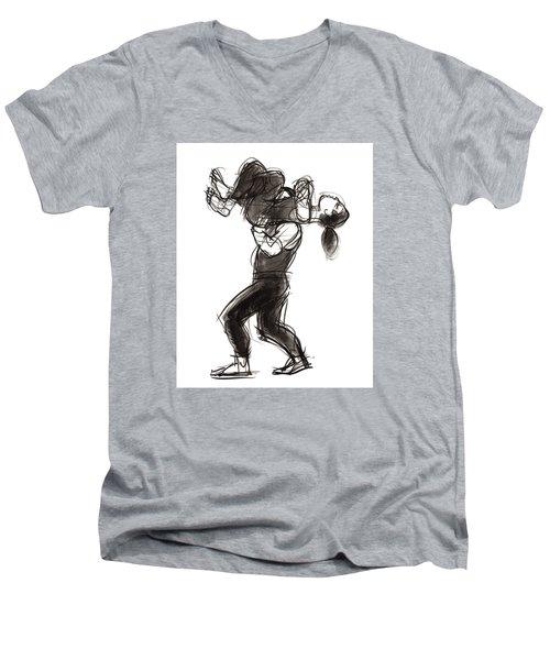 Puzzle Pieces Two Men's V-Neck T-Shirt