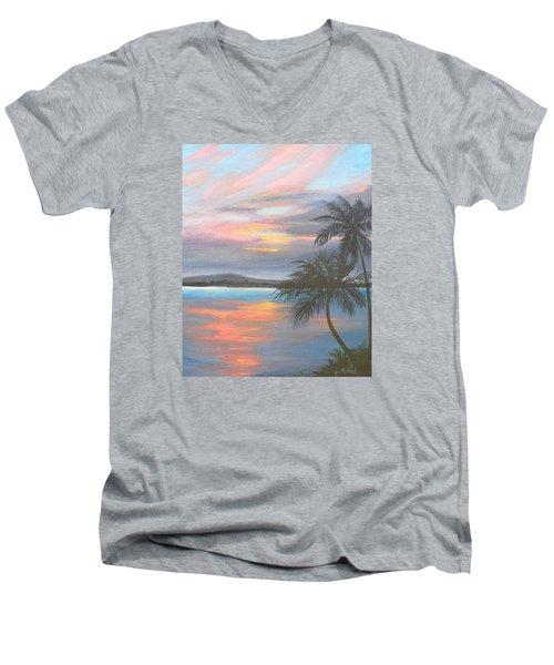 Pv Skies  Men's V-Neck T-Shirt