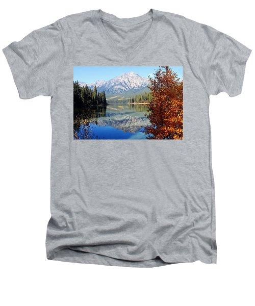 Pyramid Mountain Reflection 3 Men's V-Neck T-Shirt