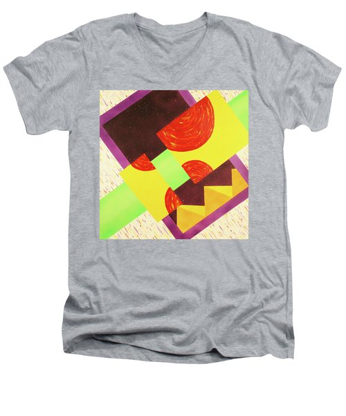 Pyramids And Pepperoni Men's V-Neck T-Shirt by Thomas Blood