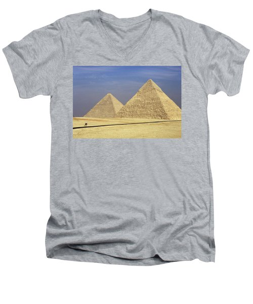 Pyramids At Giza Men's V-Neck T-Shirt