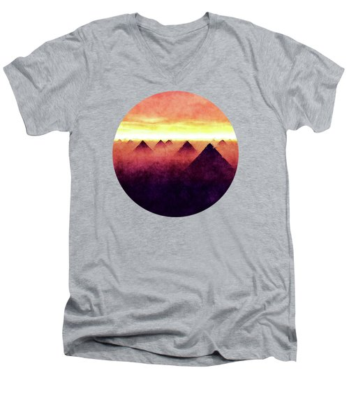 Pyramids At Sunrise Men's V-Neck T-Shirt