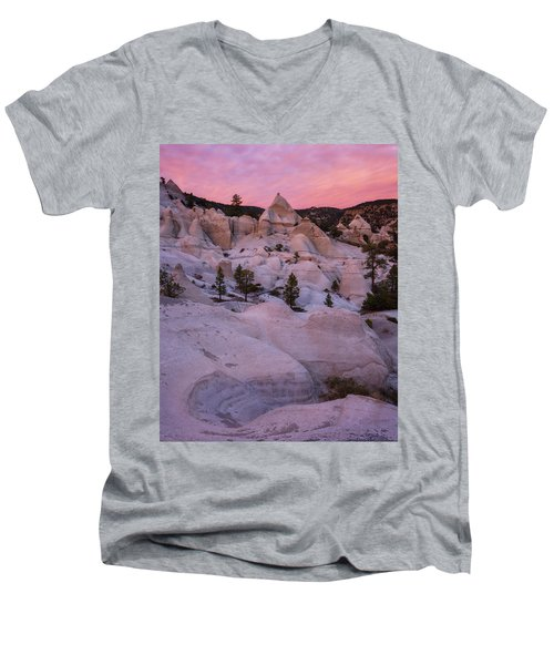 Men's V-Neck T-Shirt featuring the photograph Pyramids  by Dustin LeFevre