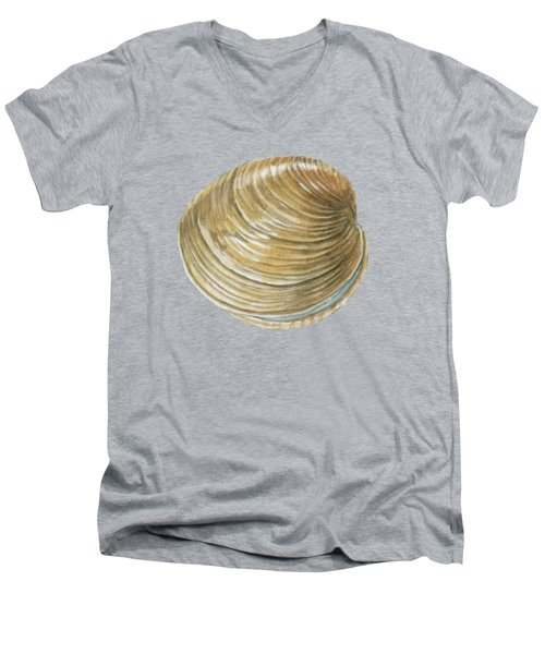 Quahog Shell Men's V-Neck T-Shirt
