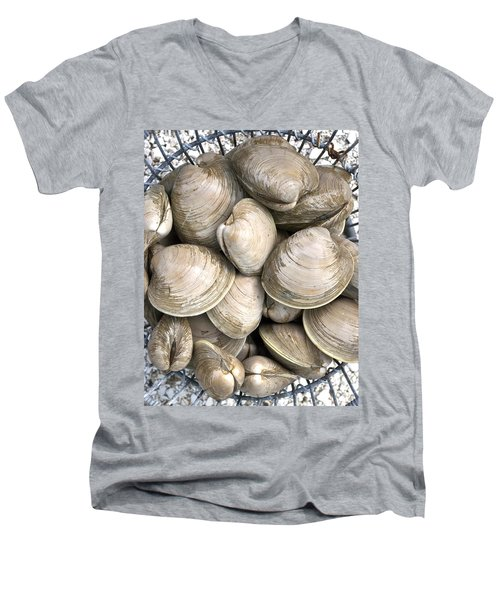 Quahogs Men's V-Neck T-Shirt by Charles Harden