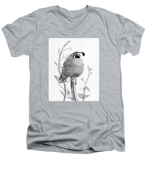Quail Sentry Men's V-Neck T-Shirt
