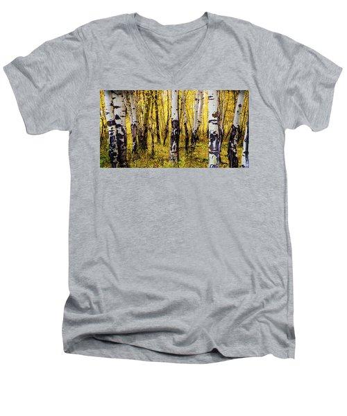 Quakies In Autumn Men's V-Neck T-Shirt