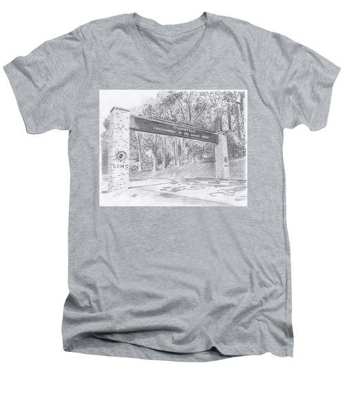 Quantico Welcome Graphite Men's V-Neck T-Shirt